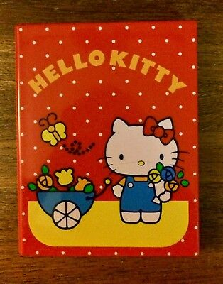 Vintage Hello Kitty Sanrio Red Comb and Mirror Compact 1980
