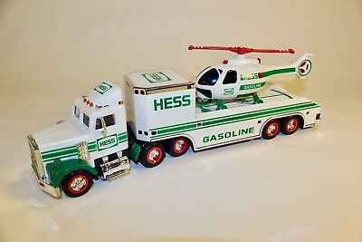 1995 Hess Toy Truck and Helicopter New in Box Collectible