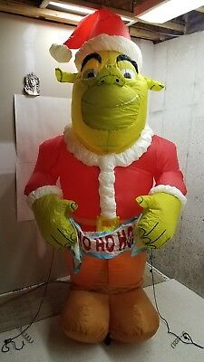 Gemmy 8' Giant Rare Christmas Shrek Ogre Airblown Inflatable Blow-up 2004