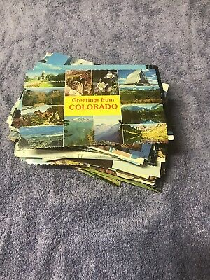 Large Lot of 100 + Vintage Colorado Postcards