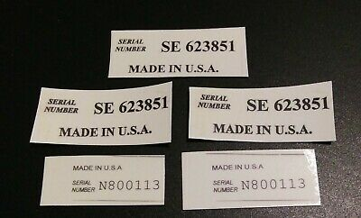 guitar headstock decal serial number made in USA