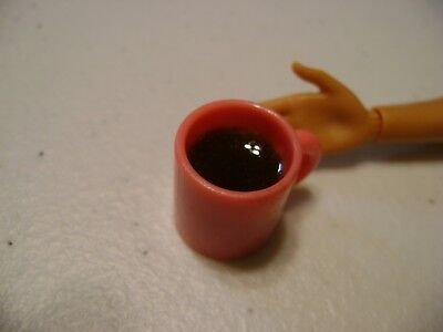 Barbie Dollhouse Drink Coffee in a pink cup   NEW