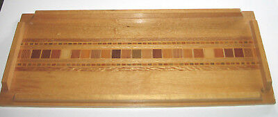Inlay Tawa Souvenir Wooden Tray Made From New Zealand Woods
