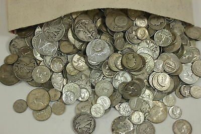 🔥 BLOWOUT (1) Full Pound LB Silver Troy Sale Mixed Pre-1965 Old US Coins Lot 🔥