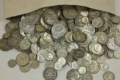 🔥 BLOWOUT (1) Full Troy Pound LB  Silver Sale Mixed Pre-1965 Old US Coins Lot🔥