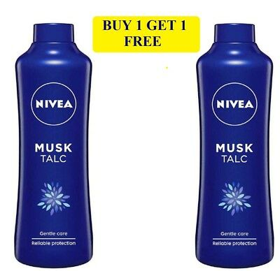 Nivea Musk Talc Gentle Care Reliable Protection - 100 Gram BUY 1 GET 1 FREE