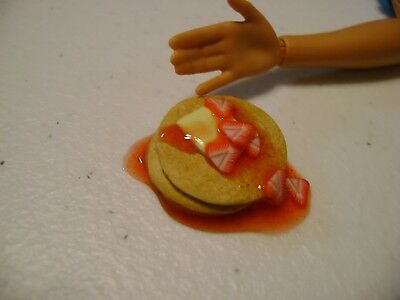 Barbie Dollhouse Food Strawberry Pancake Stack with butter and syrup    NEW