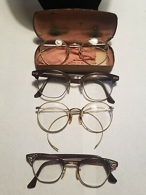 vintage Wire Eyeglasses 1/20 12K gold Filled - Lot Of 4
