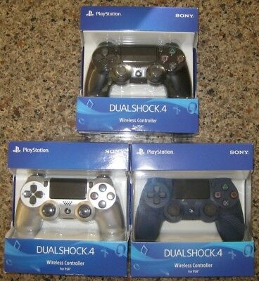 DualShock 4 Wireless Controller for PS4 Black, Midnight Blue, and Silver