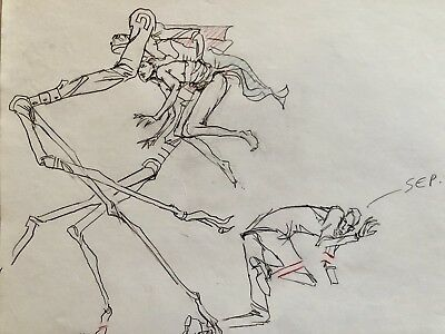 MTV's Animation ' Loaded ' Promo Original Production Cel Sketch  By Peter Chung