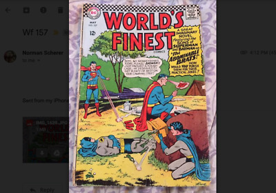 Worlds Finest 157 - May 1966 -  Good/Very Good