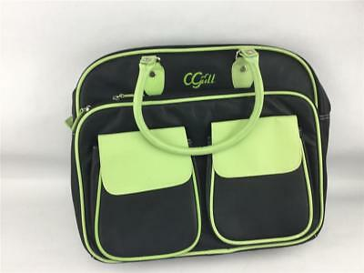 CGull Circuit Cartridge Leather Storage Tote Lime Green & Black New Without Tags