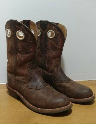Ariat Women 7.5 B Heritage Rough Stock Western Boots Antique Brown Cowgirl