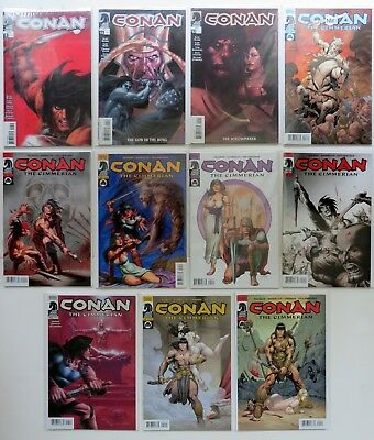 Dark Horse Comics Conan the Barbarian Lot (11 Issues) Carded