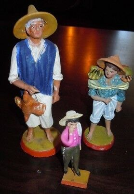 3 hand-painted Figures from Mexico