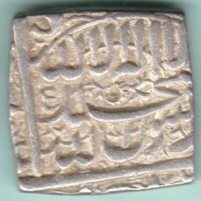 Mughal India - Mohammed Akbar - Square - One Rupee - Extremely Rare Top Conditon
