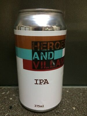 1 X 375ml Heroes & Villains - IPA Craft Beer Can - sticker
