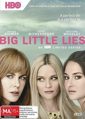 Big Little Lies : Season 1 (DVD, 2017, 3-Disc Set) - Watched Once - EUC