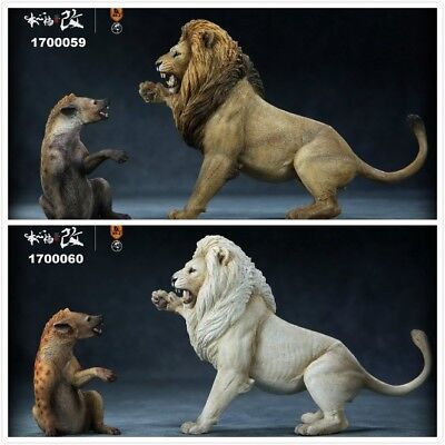 Mr. Z 1/12 Scale Thundering Rage African Lion&Spotted Hyena Gog Animal Model Set
