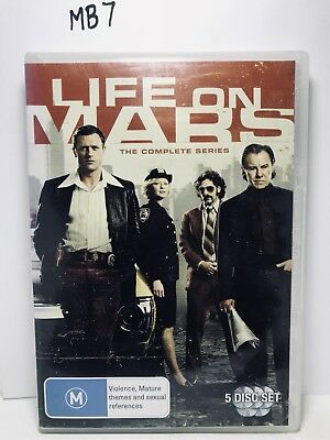 LIFE ON MARS : The Complete Series DVD 5 DISC SET Region 4 *VGC* (MB7)