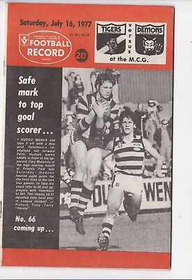 Vfl Afl Football Record Tigers V Cats July 16,1977