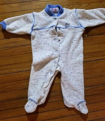 Vintage Baby Sleeper IZOD Lacoste Infants & Toddlers Pajamas Alligator Patch
