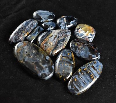 260ct 11pc Chatoyant Pietersite Cabochons Wholesale Lot Spider Web Gemstones 329
