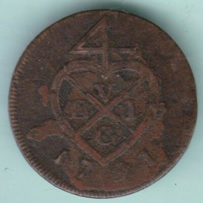 Bombay Presidency 1791 Pice Extremely Rare Coin