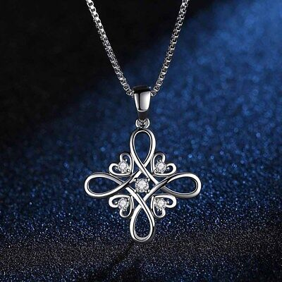 Fashion Jewelry Heart shaped Silver Plated Zircon Pendant Necklace Gifts