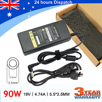 AC Power Adapter Charger + Cord Supply For ASUS Toshiba Laptop 19V 4.74A 90W