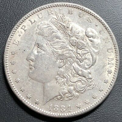 AU Details On This Cleaned, Better Date 1884-S Morgan Silver Dollar