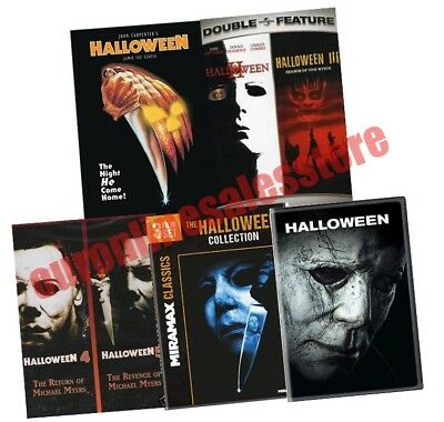 Halloween Film Series Complete Movie Collection All 1-9 DVD Set 1978-2018 Horror