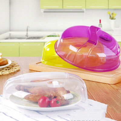Pop Plastic Ventilated Microwave Food Plate Dish Cover Kitchen Lid Safe Cooking