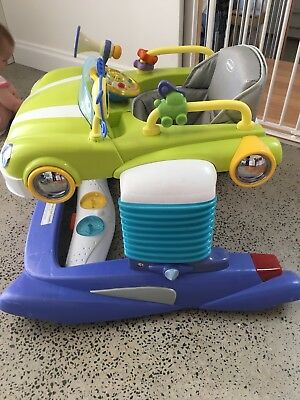 Steelcraft Beepa 4 In 1 Baby Walker Green Car Activity Centre Lights Music Seat