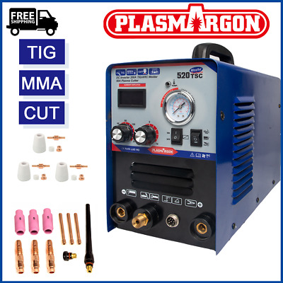 Inverter MMA TIG CUT Welding Machine 110/220V IGBT Plasma Cutter Kits & Helmet