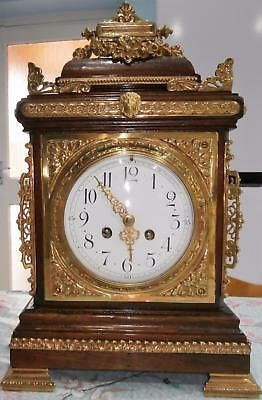 French Mahogany brass Mounted Bracket Clock Serviced & Overhauled