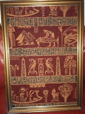 Ancient Egyptian Cloth Picture Framed