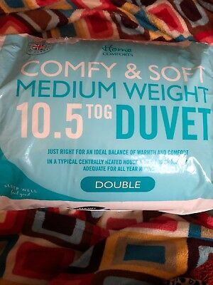 Home Comforts Comfy & Soft Medium Weight 10.5 Tog Double Duvet