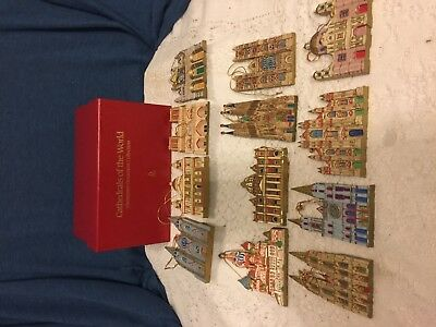 Danbury Mint Cathedrals Of The World Christmas Ornament Collection 12 Dated 1992