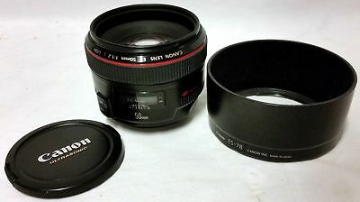 Canon EF 50mm F/1.2 L USM Lens, Very Good Condition