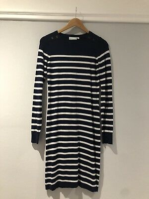 JoJo Mamam Bebe Navy Striped Maternity Dress - Size XS