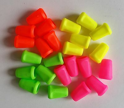 Pack of 6 Neon Bell Shape Cord Lock Cord End Cap String End for Craft Sewing