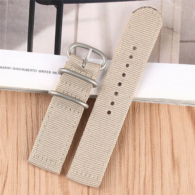Gray Canvas 20/22mm Watch Bands Strap Men Women Casual Watchband Pin Buckle R...