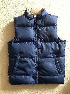 Genuine Polo Ralph Lauren Boys Reversable Gillet Navy/beige Age 6