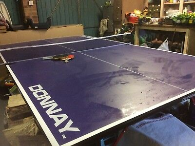 Donnay table tennis table with bats