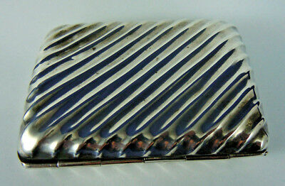 Antique Solid Silver Cigarette/cheroot Case J.dixon & Sons 1896.