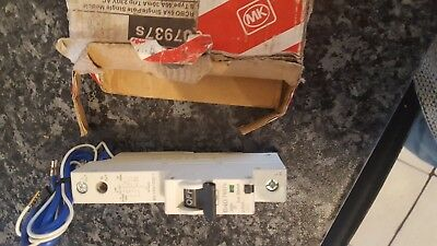 MK 07937S 40Amp 30mA single pole Rcbo 6ka Type B 230v new item in original box