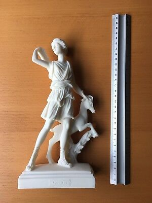 Artemis Diana Statue - Alabaster Reproduction Ancient Greek Olympian Goddess
