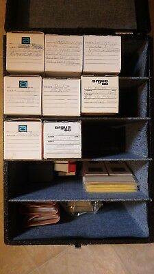 Lot Of Picture Slides With Viewers And Case - Vienna, London, Temples And More