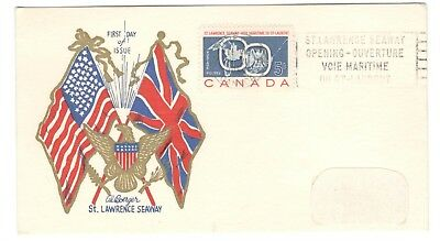 1959 Montreal 5c St.Lawrence Seaway First Day Cover FDC Card Unusual Cachet